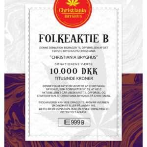 Christiania Bryghus Folkeaktie B