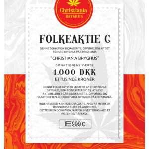 Christiania Bryghus Folkeaktie C